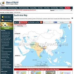 South Asia Map, South Asia Political Map, Southeast Asia map
