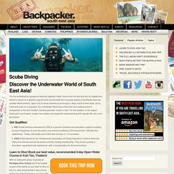 South East Asia Backpacker Scuba Diving - South East Asia Backpacker