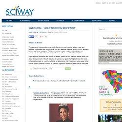 South Carolina SC - Special Women in South Carolina History