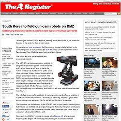 South Korea to field gun-cam robots on DMZ