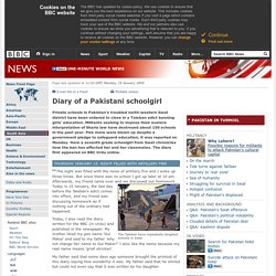 Diary of a Pakistani schoolgirl