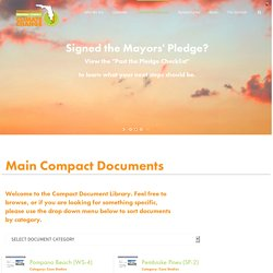Southeast Florida Regional Climate Compact – Compact Documents