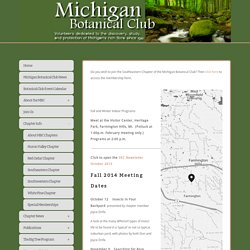 Southeastern Chapter — The Michigan Botanical Club