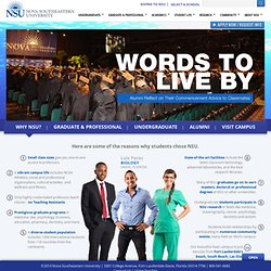 Nova Southeastern University (NSU) a Private, Research University