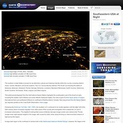 Southeastern USA at Night