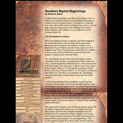 Southern Baptist Beginnings