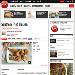 Southern Fried Chicken Recipe : Paula Deen