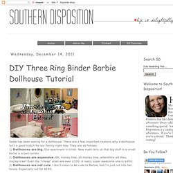DIY Three Ring Binder Barbie Dollhouse Tutorial