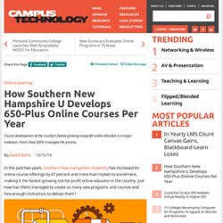 How Southern New Hampshire U Develops 650-Plus Online Courses Per Year