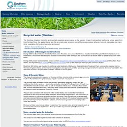Southern Rural Water - Recycled water (Werribee)
