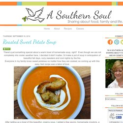 A Southern Soul: Roasted Sweet Potato Soup