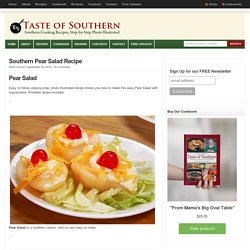 Southern Pear Salad Recipe : Taste of Southern