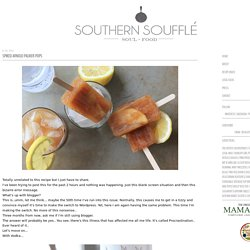 Southern Souffle: Spiked Arnold Palmer Pops