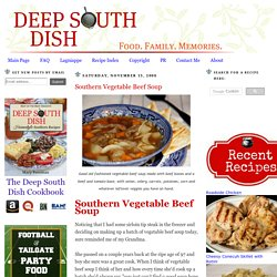 Southern Vegetable Beef Soup