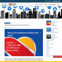How to Use Southwest Airlines Gift Card?