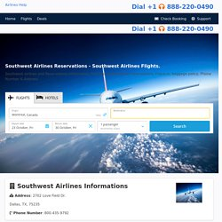 Southwest Airlines Reservations - Southwest Airlines Flights