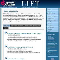 Southwest Wisconsin Community Action Program | SWCAP | LIFT Program | Southwest Wisconsin Transit