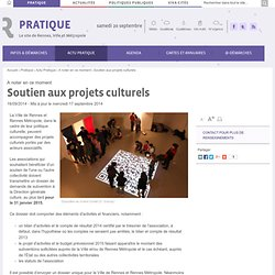 Soutien aux projets culturels