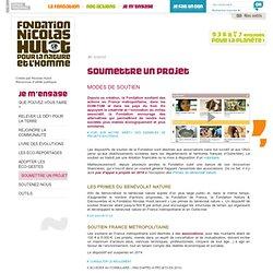 Fondation pour la Nature et l'Homme créée par Nicolas Hulot