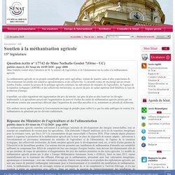 JO SENAT 17/12/20 Au sommaire: 17742 de Mme Nathalie Goulet : Soutien à la méthanisation agricole