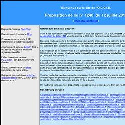 Soutien à la proposition de loi de Nicolas Dupont-Aignan