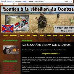Soutien à la rébellion du Donbass: Un homme vient d'entrer dans la légende...