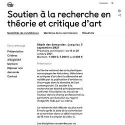[FR] Soutien à la recherche en théorie et critique d'art