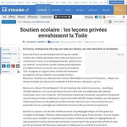 France : Soutien scolaire: les leçons privées envahissent la Toile
