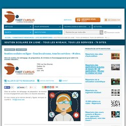 Soutien scolaire en ligne - Tous les niveaux, tous les services - 78 sites.