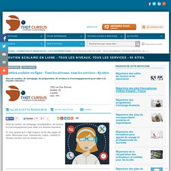 Soutien scolaire en ligne - Tous les niveaux, tous les services - 85 sites.