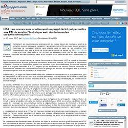 USA : les annonceurs soutiennent un projet de loi qui permettra aux FAI de vendre l'historique web des internautes et d'autres données privées