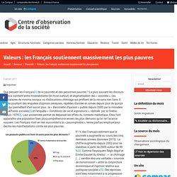 Valeurs : les Français soutiennent massivement les plus pauvres – Centre d'observation de la société