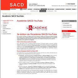 Soutiens - Audiovisuel - Académie SACD YouTube