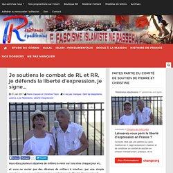 Je soutiens le combat de RL et RR, je défends la liberté d'expression, je signe…