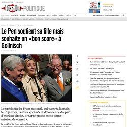 Le Pen soutient sa fille mais souhaite un «bon score» à Gollnisch