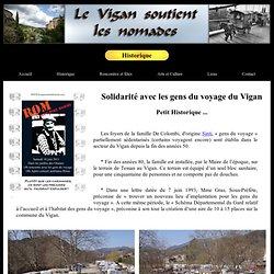 Le Vigan soutient les nomades : Historique