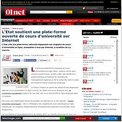 L'Etat soutient une plate-forme de cours universitaires sur Internet