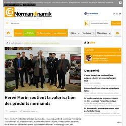 Hervé Morin soutient la valorisation des produits normands