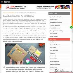 Souvenir Kantor Notebook Mini + Post It N812 Cetak Logo