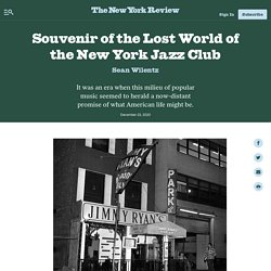 Souvenir of the Lost World of the New York Jazz Club