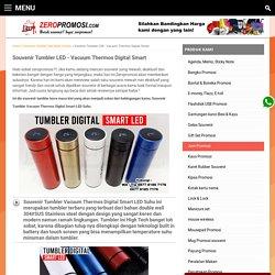 Souvenir Tumbler Vacuum Thermos Digital Smart LED Suhu Murah