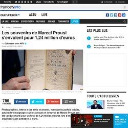 Les souvenirs de Marcel Proust s'envolent pour 1,24 million d'euros