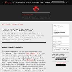 Souveraineté-association