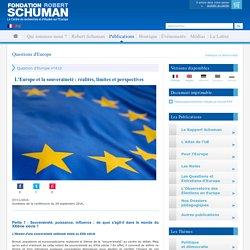L'Europe et la souveraineté : réalités, limites et perspectives