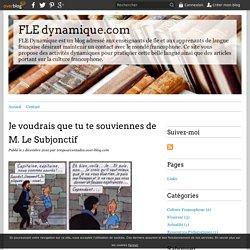 Je voudrais que tu te souviennes de M. Le Subjonctif - FLE dynamique.com