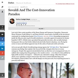 Sovaldi And The Cost-Innovation Paradox