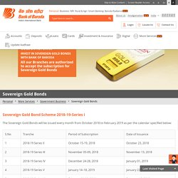 Sovereign Gold Bond Scheme Online 2018-19-Series Subscription in India at Bank of Baroda
