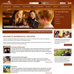 Sovereign Hill Education - Research Notes