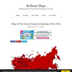 Map of The Soviet Gulag Archipelago 1923-1961