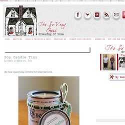 Soy Candle Tins - It's So Very Cheri